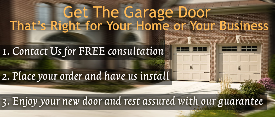 Doorcare, get the garage door that's right for your home or business. Contact us for free consultation. Details on order and install guarantee.